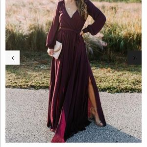 Vici Long Sleeve Diana Maxi Dress